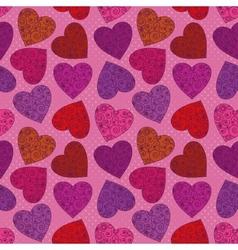 Valentine heart seamless vector