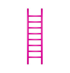 wooden ladder in pink design vector image vector image