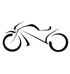 Silhouette of a motorcycle on a white background vector image vector image