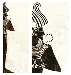 template banner with ancient egypt symbol vector image vector image