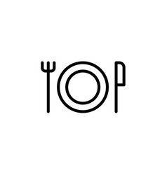 thin line dinner icon vector image