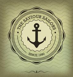 Vintage Nautical Anchor vector image