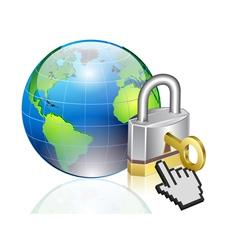 world lock vector image vector image