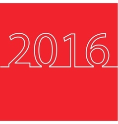 Happy New Year 2016 design card vector image vector image
