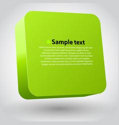 three-dimensional box vector image vector image