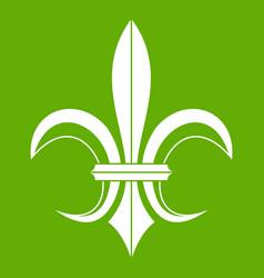 lily heraldic emblem icon green vector image