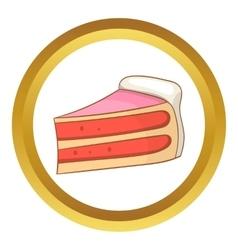 Pumpkin pie slice icon vector image