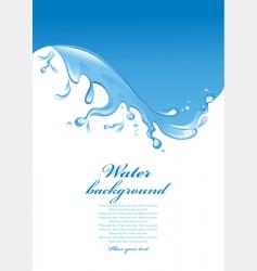 Water splash vector