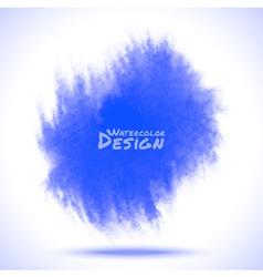 watercolor blue spot vector image vector image