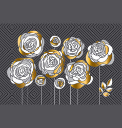 Abstract decorative rose flowers design element vector