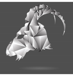abstract goat head vector image