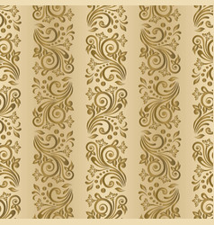 abstract seamless pattern with ornament wallpaper vector image