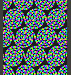 acid colored groovy seamless background vector image