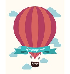 Airballoon design over white background vector image