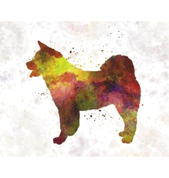 American akita in watercolor vector