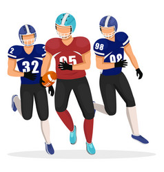 american football game players different teams vector image