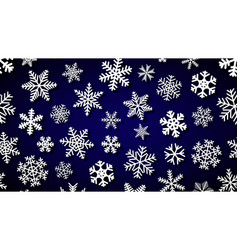 background of snowflakes with shadows vector image
