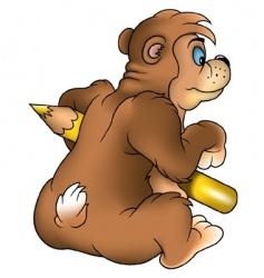Bear painter vector