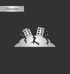 black and white style icon natural disaster vector image