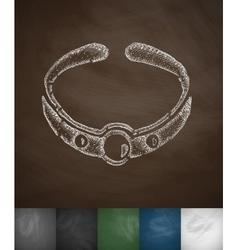 Bracelet icon vector