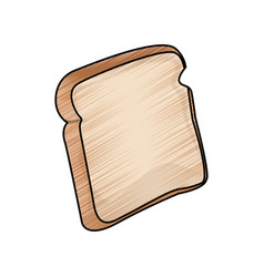 Bread bakery icon sliced fresh wheat nutrition vector