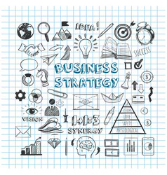 business strategy hand drawn infographic vector image