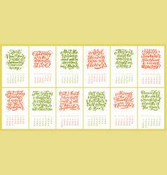 calendar for months 2 0 1 9 hand drawn vector image