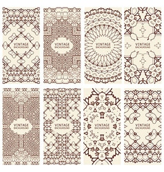 Cards Vintage decorative elements vector