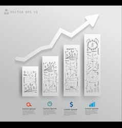 Charts and graphs with drawing business success vector image