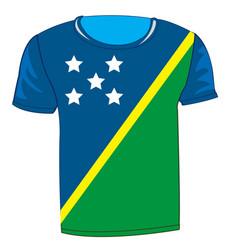 cloth flag solomon island vector image