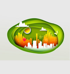 concept of eco city vector image