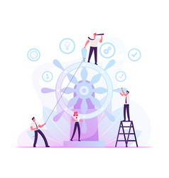 Corporate governance and team work concept group vector