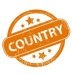 Country grunge icon vector
