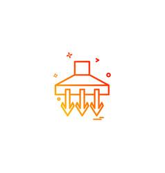 down icon design vector image