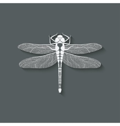 Dragonfly insect symbol vector