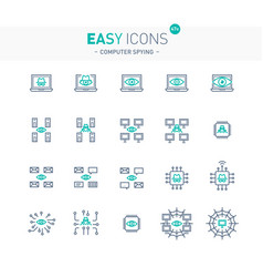 Easy icons 47e computer spying vector