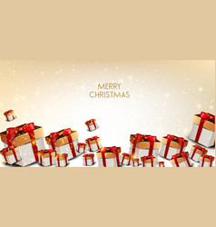 elegant background with christmas gifts vector image