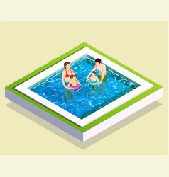 family in bath composition vector image