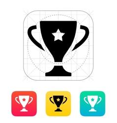 Favorite cup icon vector