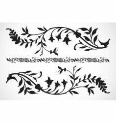 Floral pieces vector