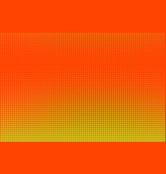 halftone yellow and orange vector image