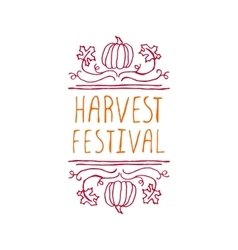 Harvest festival - typographic element vector