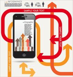 Infographics modern design background vector image
