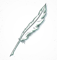 Isolated doodle fountain pen handmade in sketch vector