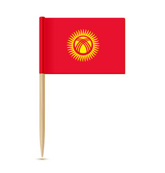 kyrgyzstan flag toothpick 10eps vector image