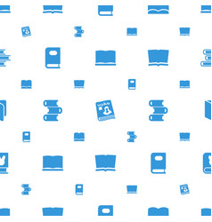 Magazine icons pattern seamless white background vector