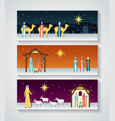Manger epiphany christmas vector
