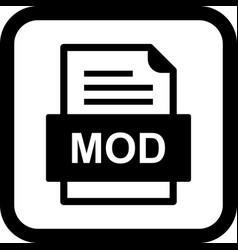 Mod file document icon vector