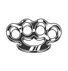 Monochrome brass knuckles vector