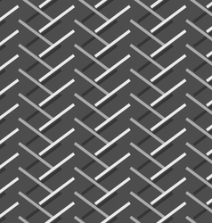 Monochrome pattern with diagonal gray doubled vector image